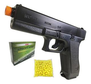 Pistola Airsoft Kwc K17 Spring Mola 6mm 230 Fps Com Trava