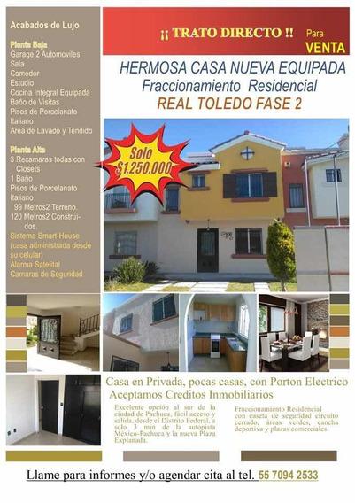 Hermosa Casa Nueva Equipada En Real Toledo Fase 2 Remate