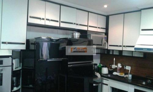 Imagem 1 de 9 de Sobrado Residencial À Venda, Jardim Aclimação, Santo André. - So2190