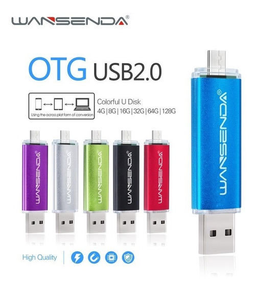 Kit 3pçs Pen Drive 32gb Otg Wansenda - Pc/smartphone/tablet