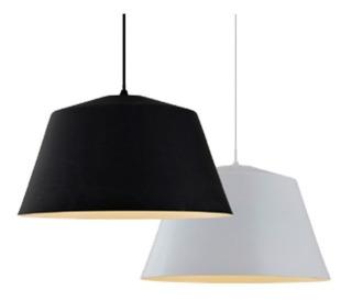 Lámpara Decorativa Colgante Negro/bco. (sin Foco) Lc517