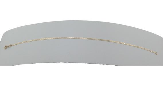 Pulseira Masculina Maciça Piastrine 2,4 22 Cm Ouro 18k 750