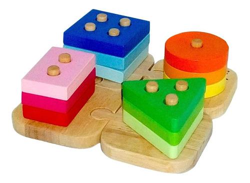 Acool Encastre Montessori Prenumerico Formas Geometri Ac7619