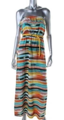 Vestido Mujer Maxi Dress Lineas Talla Xs