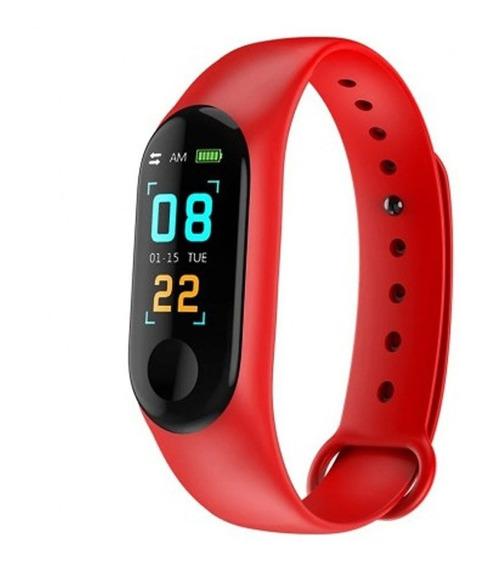 Smart Watch M3 Pulsera Inteligente Wchm3 Rojo