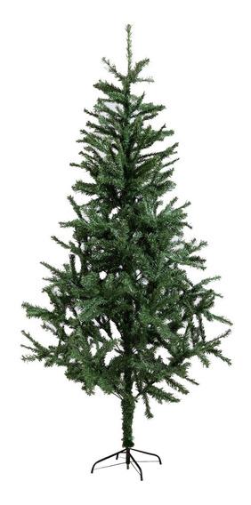 Arbol Navidad Canadiense 2.10 Mts Base Metal Arbolito Adorno