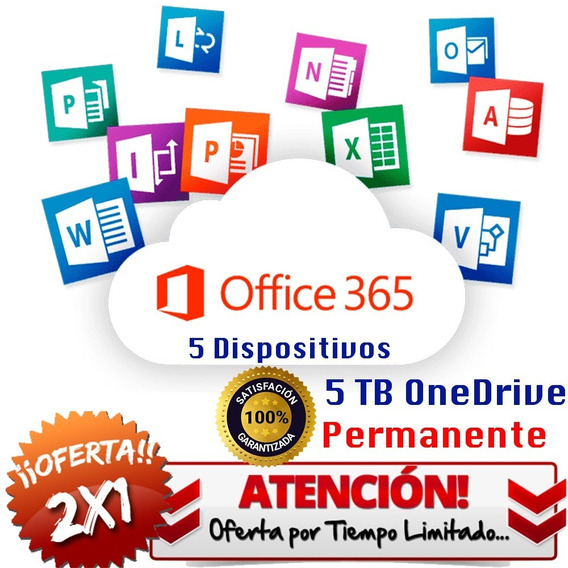 Office 365 2licencia Original 5 Pc, Macs O Tablets