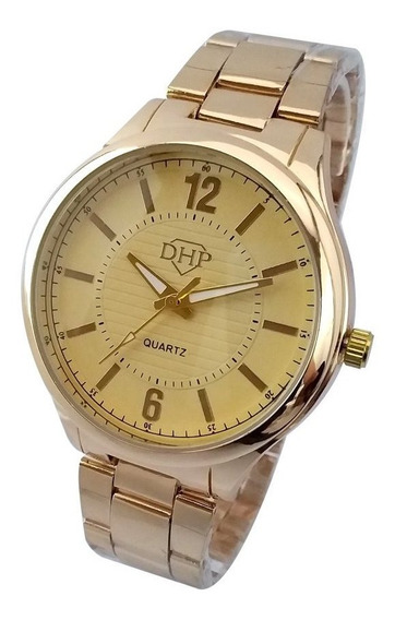 Relógio Feminino De Pulso Inoxidável Dourado Luxo Promoção