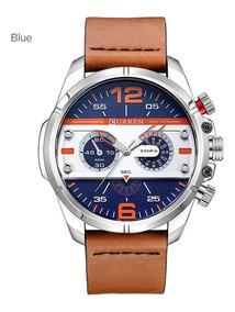 Curren 8259 Casual Relógio Moda Quartz Relógio De Pulso Azul