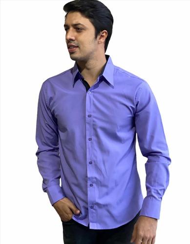 Imagem 1 de 2 de Camisas Social Masculina Slim - Atacado - Promoção Pp Ao Gg
