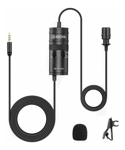Imagen 1 de 8 de Microfono Boya M1-pro Corbatero C/ Entrada Auricular