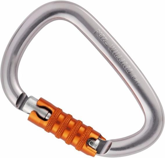 Mosquetón Hms Petzl William Triact Lock Escalada Rapel Montaña Aluminio Seguro Automatico