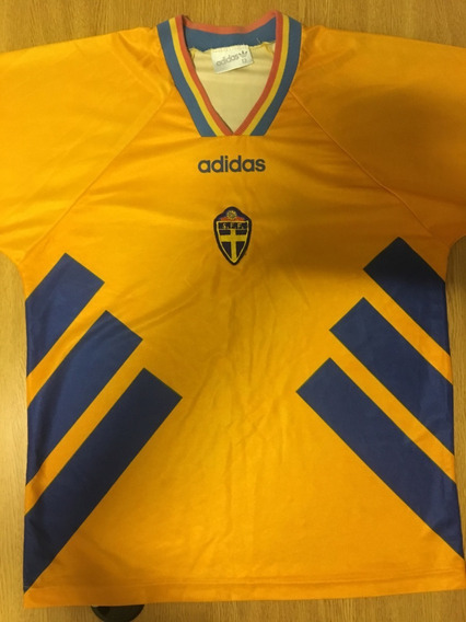 Camiseta Suecia Titular adidas Mundial 94 Manga Larga Oferta