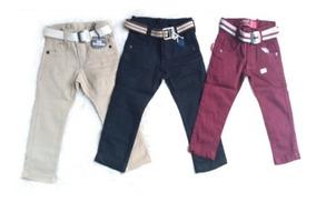Kit 3 Calça Jeans Masculina Infantil Colorida 1 Aos 3 Anos