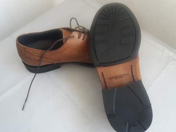 Zapatos Kenneth Cole - Talla 10m - Nuevos - Color Cognac