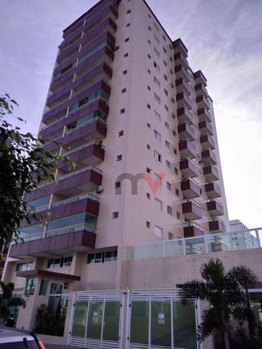 Apartamento Para Alugar, 45 M² Por R$ 1.600,00/mês - Tupi - Praia Grande/sp - Ap1190