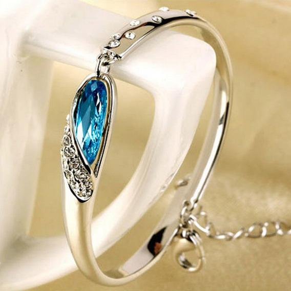 Pulsera Acero Inoxidable Cristales Decorativos Brazaletes