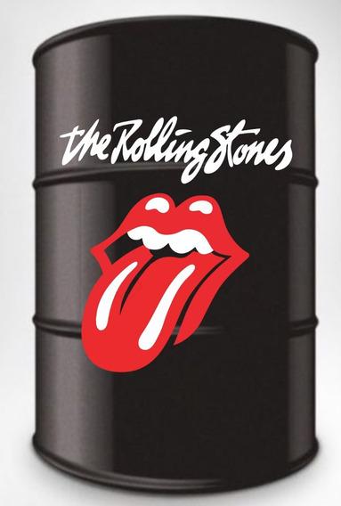 Adesivo Decorativo The Rolling Stones Tambor 200l