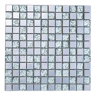 Malla Mosaico Decorativa Cenefa Berlin Plata 30x30cms Tiles
