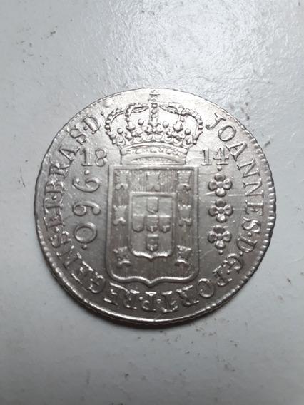 Moeda Antiga 960 Réis 1814 Rio Variante Rara 12xs/juros