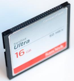 Cartão Memória Cf Compact Flash 16gb Sandisk Profissional