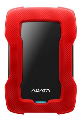 Imagen 1 de 3 de Disco duro externo Adata AHD330-1TU31 1TB rojo