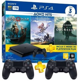 Ps4 Slim 1tb Hdr Playstation4 +3jogos+psn+controle Extra!!