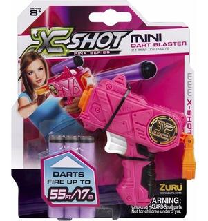 Arma Lanza Dardos X-shot Mini Micro Dart Blaster Rosa
