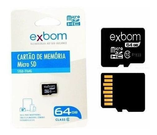 Cartão De Memória 64 Gb Micro Sd Original Barato Lacrado