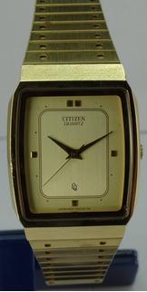 Reloj Citizen Quartz Acero Dorado Vintage Hombre Garantia