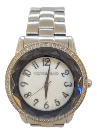 Relógio Feminino Prateado Victor Hugo Vh10075lss/28m