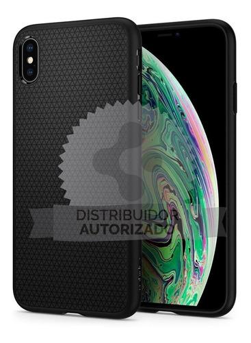 Imagen 1 de 10 de Funda Spigen iPhone XS Max Liquid Air Black 100% Original