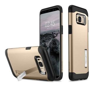 Capa De Celular Spigen Galaxy S8 Plus Slim Armor Gold Mapla