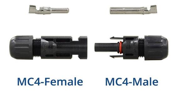 Conector Mc4 P/ Painel Cabo Solar 4 A 6mm Par Pronta Entrega