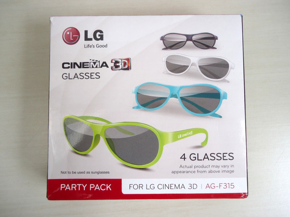 Óculos Lg 3d Ag-f315 Com 4 Óculos Original ! !