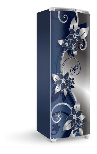 Adesivo Envelope Para Porta Da Geladeira Freezer Arabesco Az