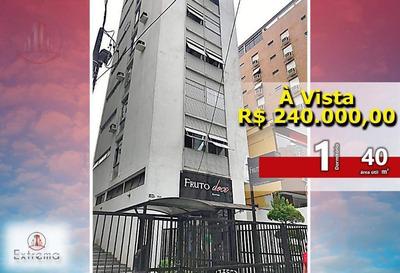 Excelente Apartamento 1 Dormitório, 40 M², Por R$ 240.000,00 - Boqueirão - Santos/sp - Ap1054