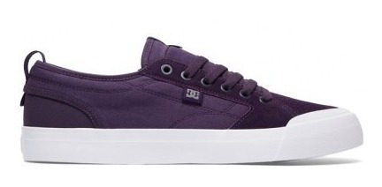 Zapatillas Dc Evan Smith (purple/white Pwh) Todos Los Talles