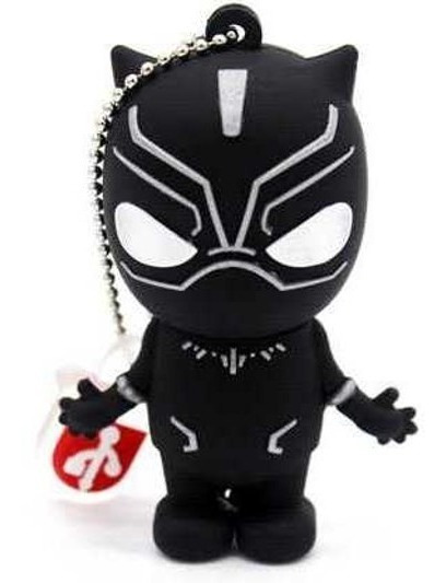 Pen Drive 32gb Personalizado Marvel Pantera Negra Hq Héroi