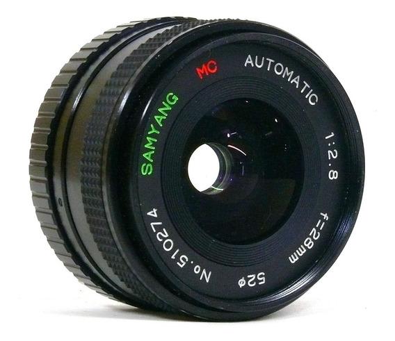 Objetiva Samyang P/yashica 28mm 2.8