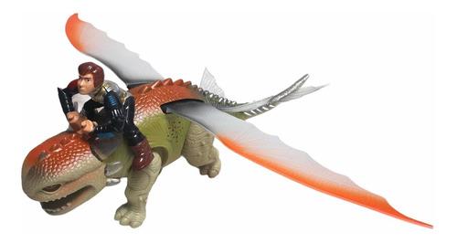 Juguete Dinosaurio Chimuelo Movimientos Luces Y Sonido.