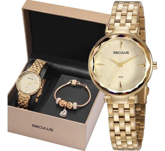 Relógio Seculus Feminino 77068lpskds2k1