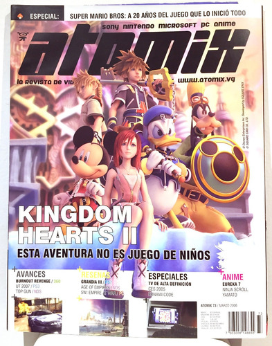 Imagen 1 de 1 de Revista Disney Atomix Kingdom Hearts