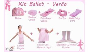 Kit Roupa Uniforme Ballet - Verão - 7 Peças
