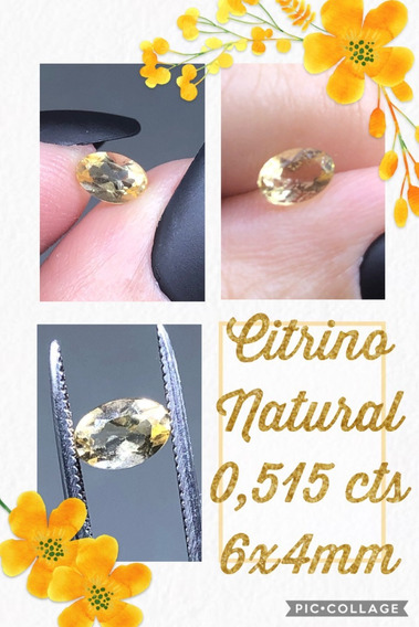 Citrino Oval Natural 0 515 Cts 6x4 Mm A