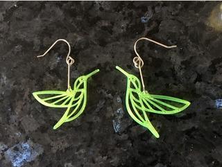 Aros Aritos Aretes Pájaro Diseño Plástico