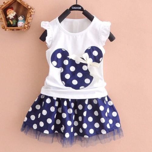 Vestido Falda Camisa Minnie Mouse Niñas Tallas 1a4 Años //