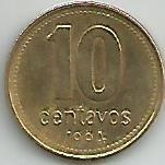 Moeda Argentina 10 Centavos