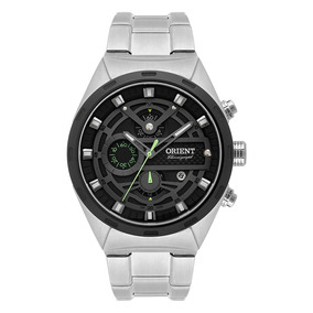 Relógio Orient Aço Cronografico Visor Grafite Mbssc176 P1sx