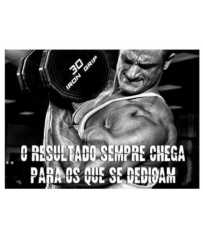 Poster 60x84cm Motivação Decoração Academia Apolo Musculação